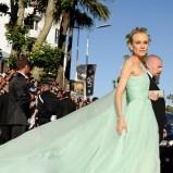 zwiewna sukienka w kolorze seledynowym - Diane Kruger