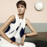 zwiewna tunika Max Mara w kolorze białym - kolekcja na wiosnę i lato 2013