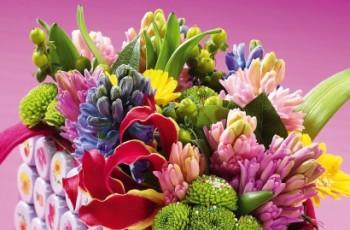 Kompozycje kwiatowe z hiacyntów