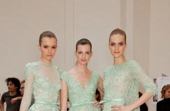 Miętowe suknie od znanych projektantów