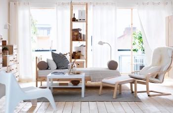 Przytulny salon inspirowany przez IKEA