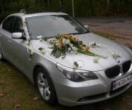 AUTO DO ŚLUBU LUKSUSOWE SREBRNE BMW 5 E-60