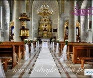 Dekoracja kościoła sali weselnej do ślubu