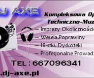 DJ NA WESELA,POPRAWINY !!! DJ AXE !! KONKURENCYJNE CENY !!!