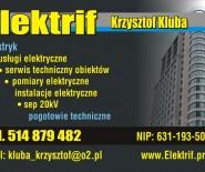 Elektrif,elektryk,pomiary,przyłącza ,usługi elektryczne,