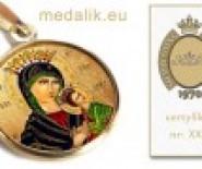 KONOPACCY - Ekskluzywne ręcznie malowane medaliki  18k/750