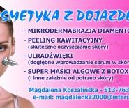 KOSMETYKA Z DOJAZDEM DO KLIENTKI-ZABIEGI ŁĄCZONE-PROMOCJA!!!