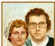 malowane portrety ślubne