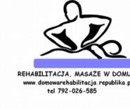 Rehabilitacja, masaż w domu klienta