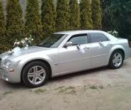 Srebrny Chrysler 300c do Ślubu , na Wesele