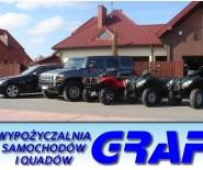 Wypożyczalnia samochodów osobowych, dostawczych i quadów