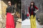 Długa spódnica - moda uliczna 2012!