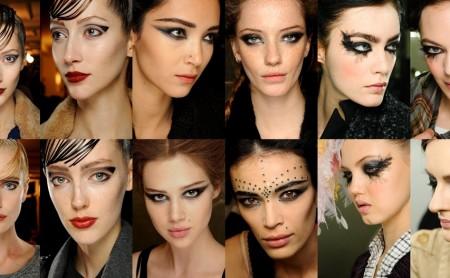 Czarny makijaż oka