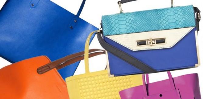 Kolorowe torby i torebki