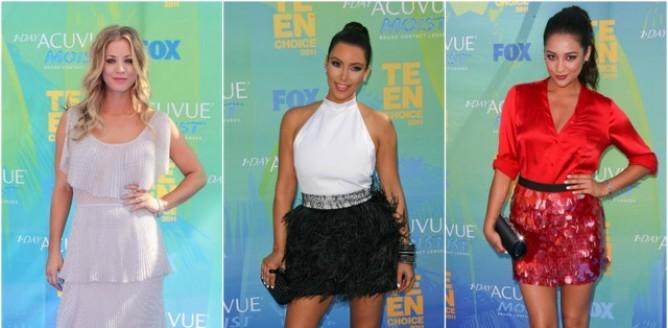 Kreacje gwiazd na Teen Choice Awards!