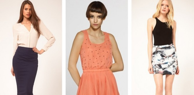 Modne spódnice na wiosnę i lato 2012