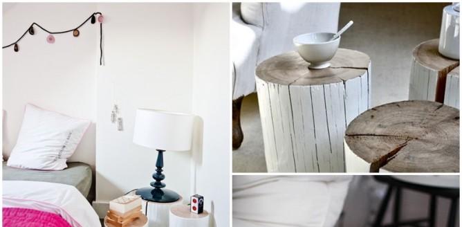 Oryginalny stolik z pnia, który zrobisz sama