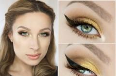 Złoty makijaż na wiosnę - instruktaż