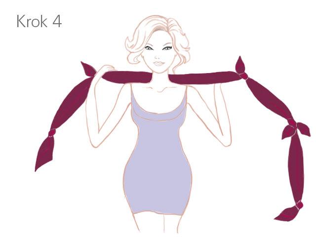Apaszka - wiązanie krok 4