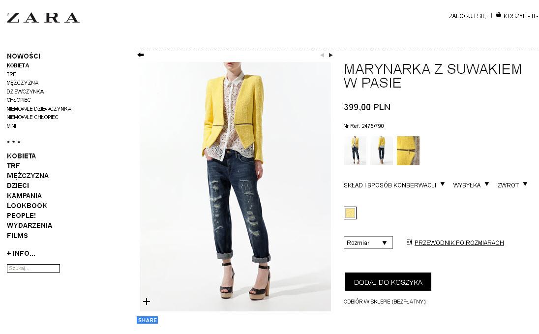 Sklep marki Zara on-line rusza 7 marca!