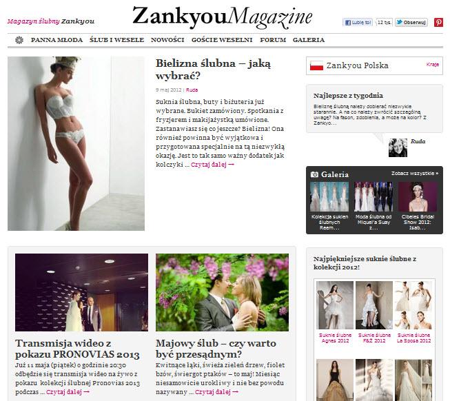 Magazyn ślubny Zankyou
