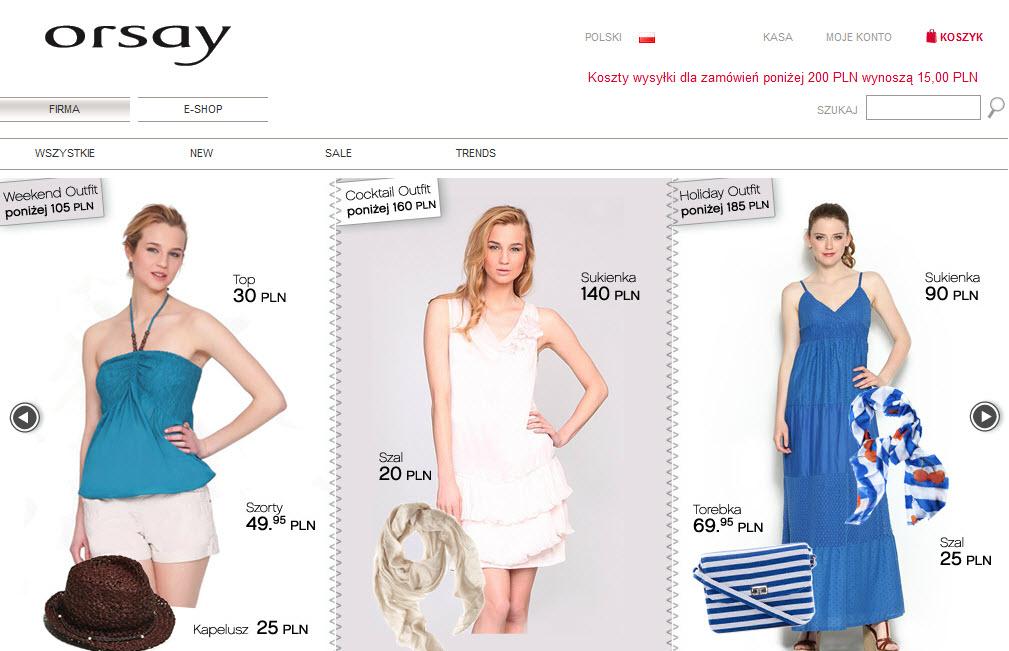 E-shop Orsay