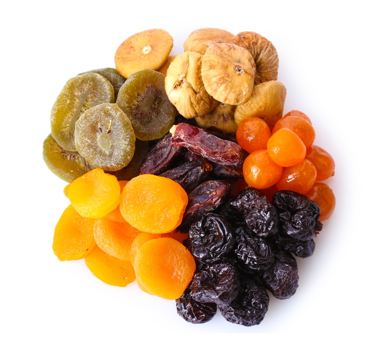 Suszone owoce.