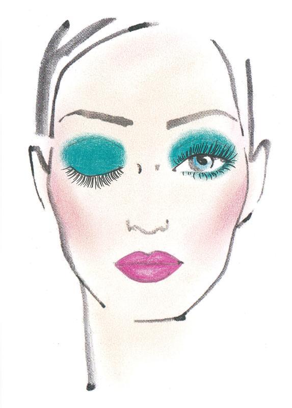 Neonowy makijaż