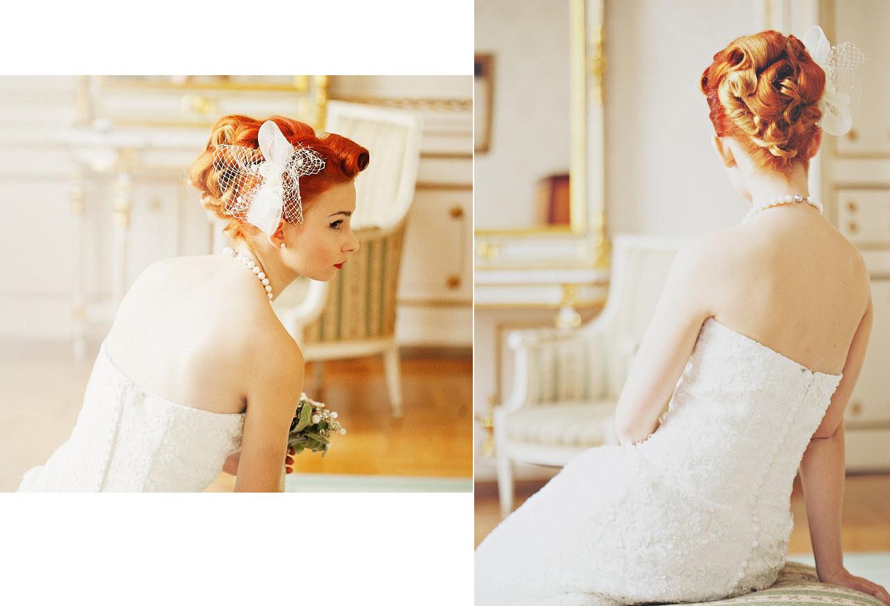 Fryzury vintage na ślub