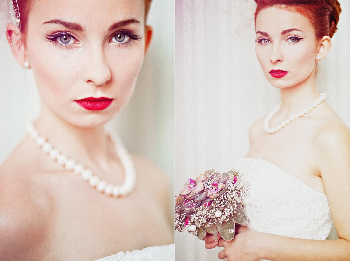 Makijaż i fryzura vintage na ślub