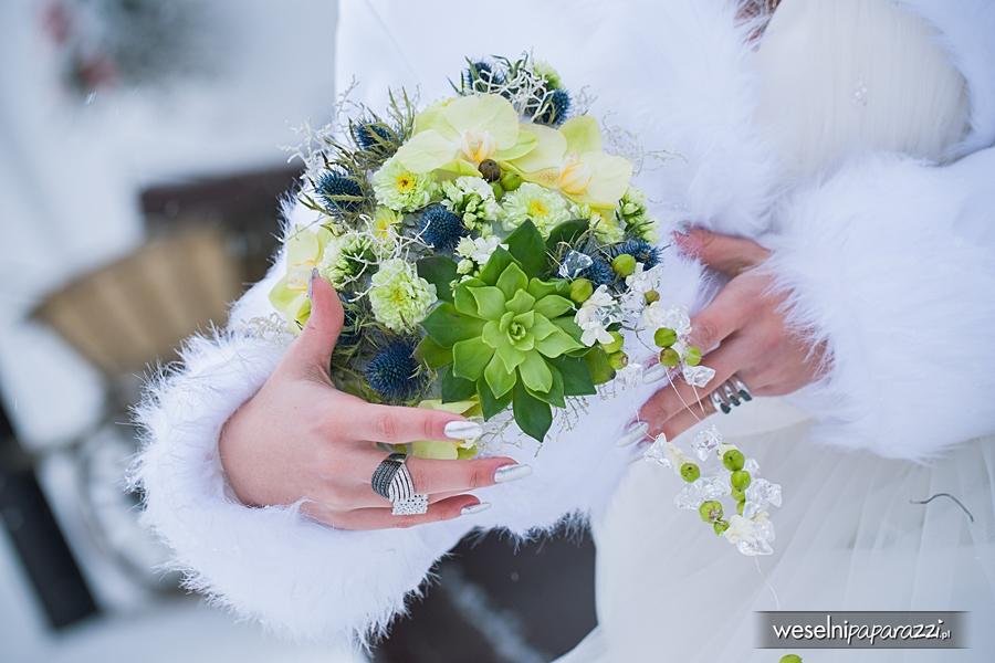 Bukiety I Ozdoby ślubne W Zimowym Klimacie Organizacja I