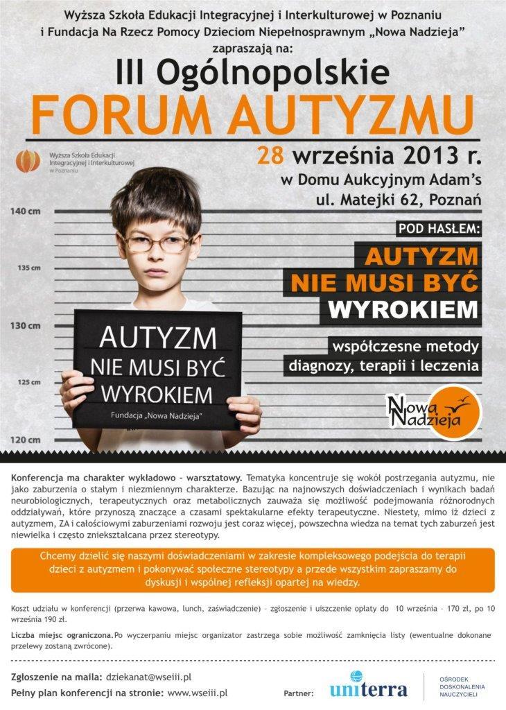 III Польский форум аутизма