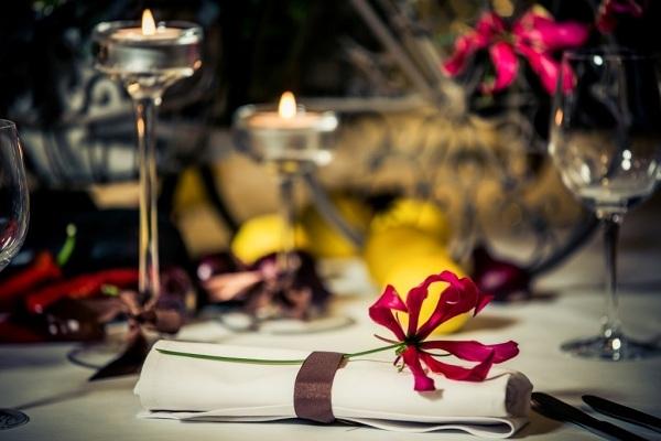 Stół weselny na jesień
