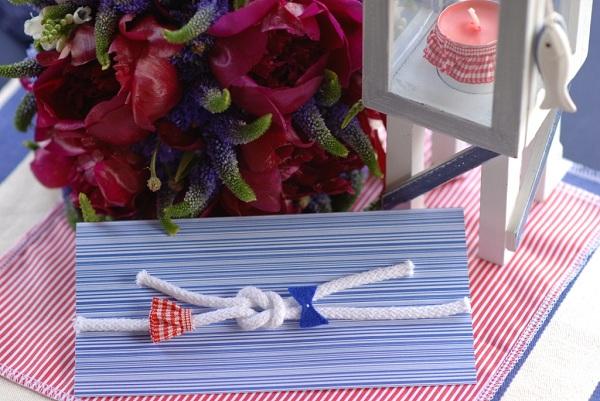 Zaproszenie ślubne w stylu żeglarskim