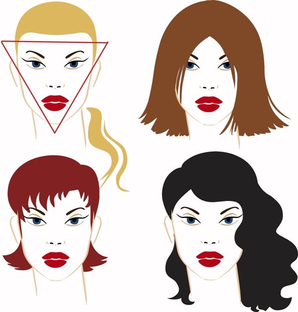 Fryzury dla trójkątnej twarzy lub twarzy w kształcie serca
