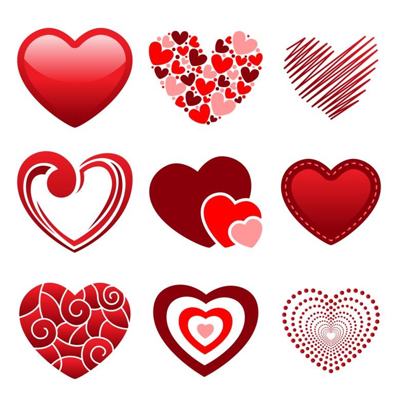 Serca z imionami - wróżba andrzejkowa