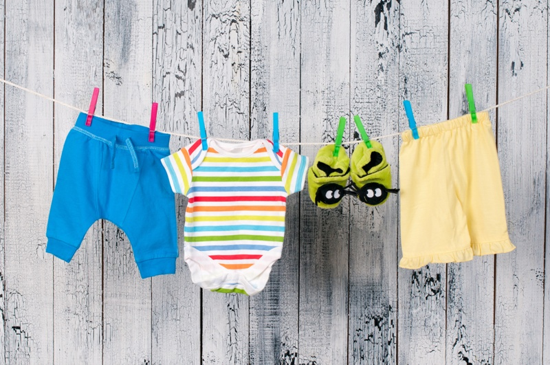 pranie dziecięcych ubranek
