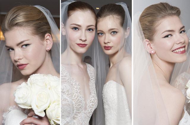 delikatny makijaż ślubny z kreską