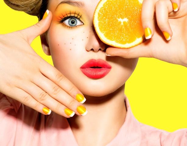 makijaż pomarańczowy krok po kroku