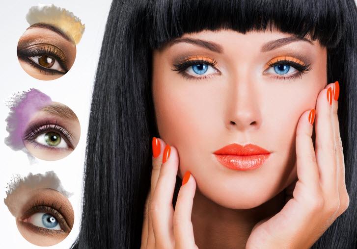 makijaż a kolor soczewki
