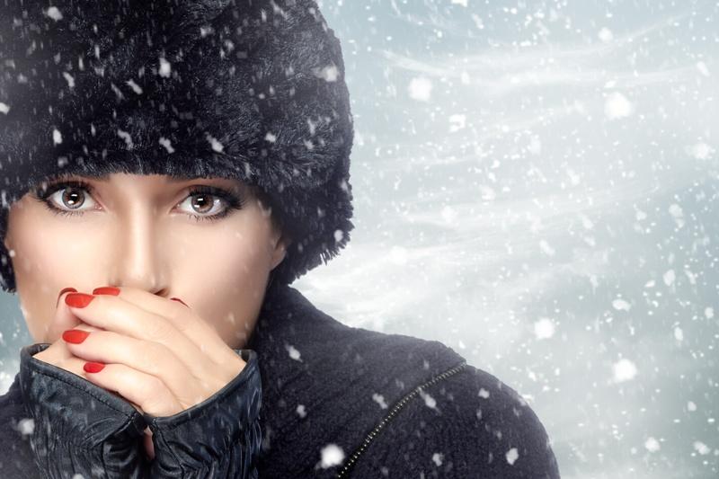 piękna skóra zimą