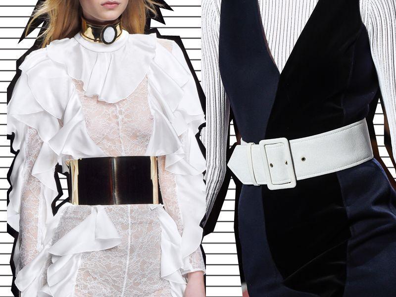 szerokie paski moda lat 80.