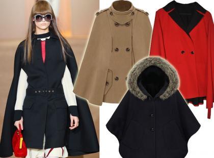 Top 10: modne peleryny na zimę 2012