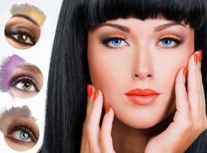 Makijaż dopasowany do koloru soczewki kontaktowej