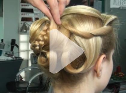 Świąteczna fryzura - fantazyjny kok [video]
