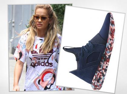 25-letnia Rita Ora nosi fantastyczne adidasy z kolorową podeszwą
