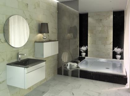 Geometryczna elegancja łazienki