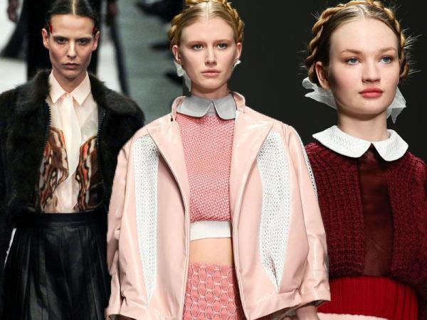 białe kołnierzyki - moda zima 2015