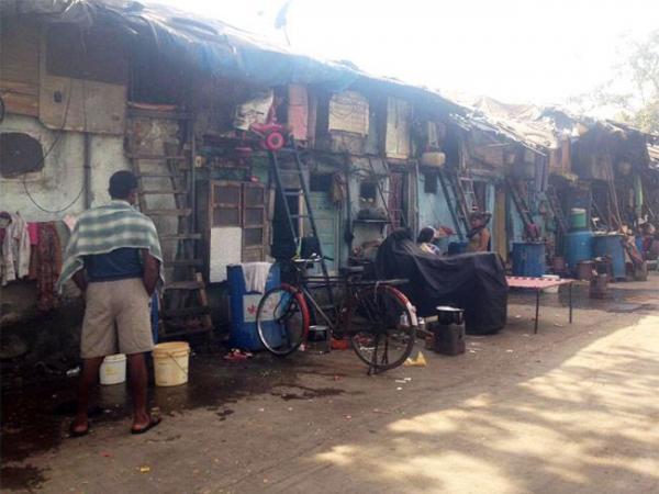 slumsy w Bombaju