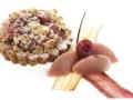 Tarta rabarbarowa z kruszonką i sorbetem rabarbarowym